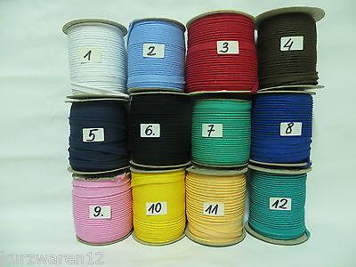 10m Baumwolle Besatzband, Biese, Paspelband  (1)
