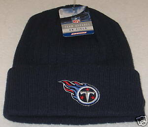 20d9a5a4ca1f73 NFL Tennessee Titans Blue One Size Fits All Cuffed Knit Hat By ...