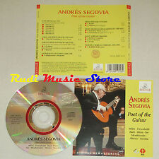 CD ANDRES SEGOVIA Poet of the guitar MILAN FRESCOBALDI BACH ERMITAGE lp mc dvd