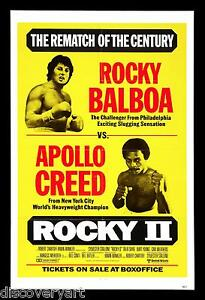 1979 Rocky II Sylvester Stallone movie poster print