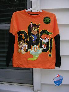 4089c990 _*) HALLOWEEN Boys' PAW Patrol Glow-in-the-Dark Graphic T-Shirt ...