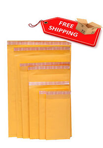 Kraft-Bubble-Mailers-Padded-Envelopes-Shipping-Bags-Choose-your-Size-amp-Pack