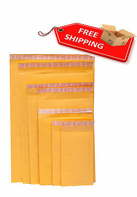 Kraft Bubble Mailers Padded Envelopes Shipping Bags Choose your Size & Pack