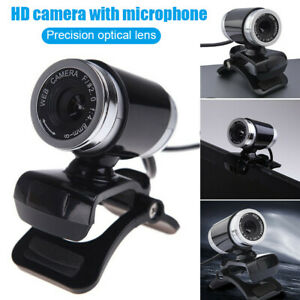 HD-Webcam-Desktop-Laptop-Webkamera-Eingebautes-Mikrofon-Drehbare-360-Grad-fuer-PC