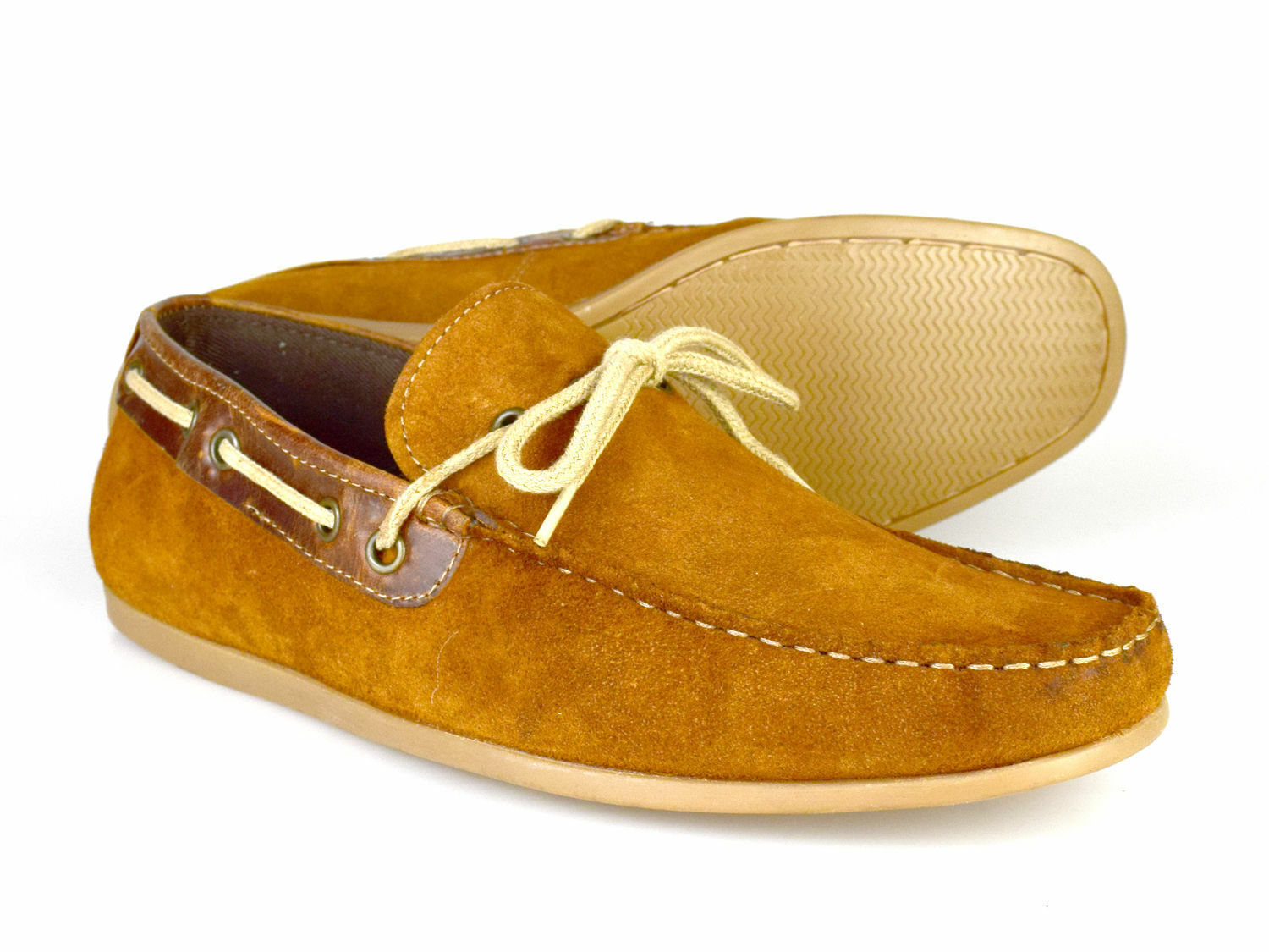 Red Tape Sandy Tan Suede Mens Casual Boat shoes