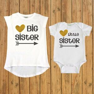 1f37faef Image is loading Matching-Sibling-Shirt-Sister-Gift-big-sister-little-