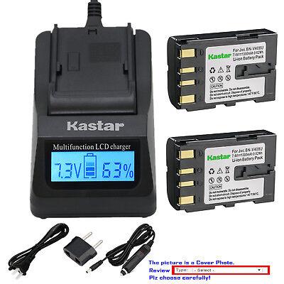Kastar Battery LCD Fast Charger for JVC BNV408 JVC    GR