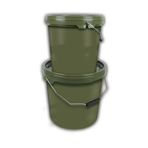 2 x GARDNER TACKLE 5ltr GREEN BUCKETS FOR CARP FISHING BRAND NEW