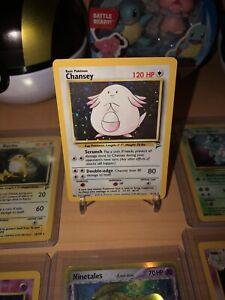CHANSEY 3/130 Holo Foil Rare Base Set 2 Pokemon Card