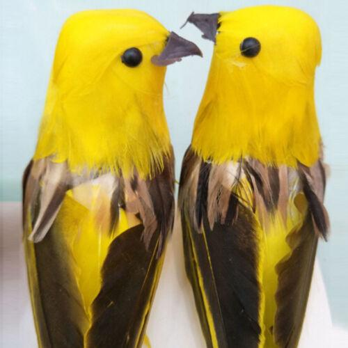 Mini Artificielle Mousse plume oiseau mariage décoratif COLOMBES oiseau décoration maison Vaes
