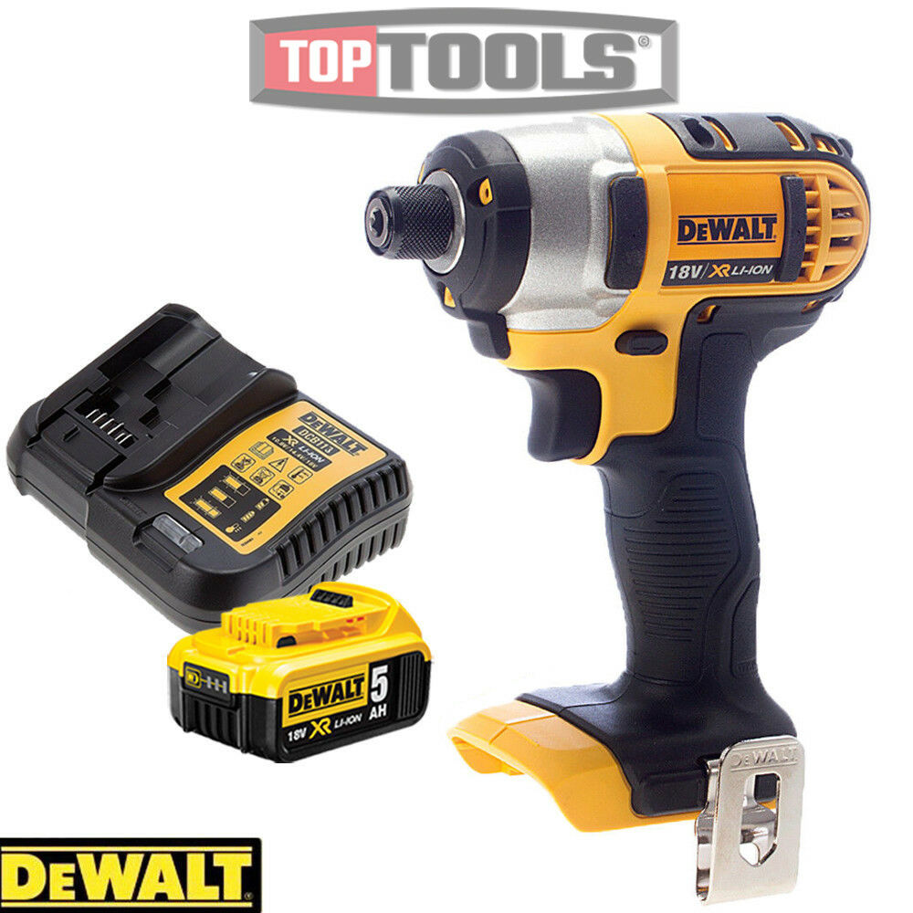 Dewalt DCF885N XR 18V li-ion Impact Driver With 1 x 5.0Ah Battery & Charger