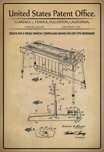 US Patent Seitenspannung Instrument 1961 Tin Sign 20 X 30 CM P0245