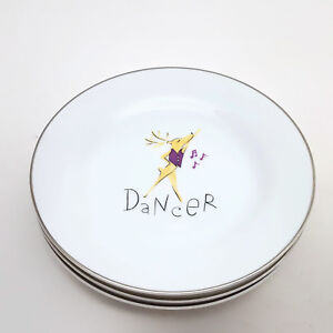Pottery-Barn-Set-of-3-Reindeer-Dancer-Vixen-amp-Dasher-Dessert-Salad-Plates
