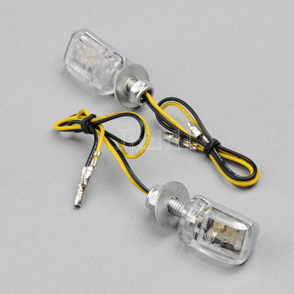 4x 6 LED Amber Mini Motorcycle Turn Signal Blinker Indicator Light Universal 12V