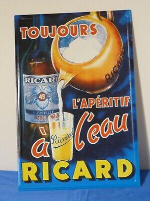 Plaque RICARD publicitaire métal neuve sous blister 30x20