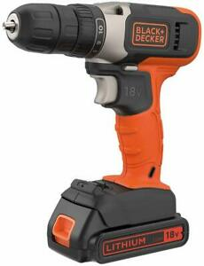 Black-amp-Decker-Cordless-Drill-Driver-18V-Battery-Charger-BCD001C1-GB