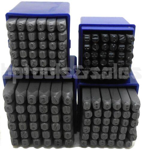 """144pc 1//4/'/' 3//16/"""" 5//32/"""" 1//8/"""" Size Letter /& Number Stamp Set Hardened Steel Metal"""