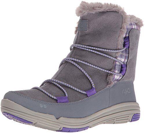 Ryka Womens Aubonne Grey/Purple Snow Boots Size 7.5 (207644)