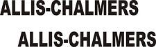 """2- ALLIS - CHALMERS N- DIE CUT VINYL DECALS BLACK 1 """" X 9"""" EACH"""
