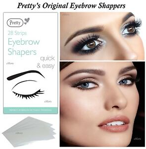 Details about PRETTY SMOOTH EYEBROW SHAPERS 28 WAX STRIPS UNWANTED HAIR  REMOVER EASILY (New)
