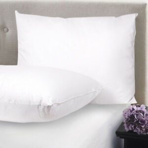 Feather & Down Blend Bed Pillows 100% Cotton Cover 2 Pack Queen King Standard