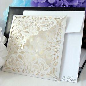 Das Bild Wird Geladen Einladungskarten Hochzeit Geburtstag Party Laser Cut  Einladung Mit