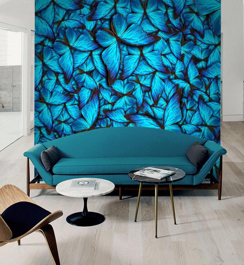 3D Blau Butterfly 88 Wallpaper Mural Paper Wall Print Wallpaper Murals UK