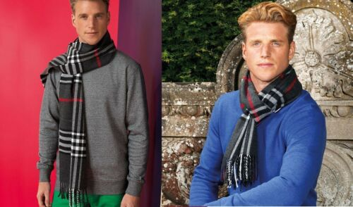Asquith /& Fox Unisex Stylish Patterned Check scarf Winter Essentials AQ 951