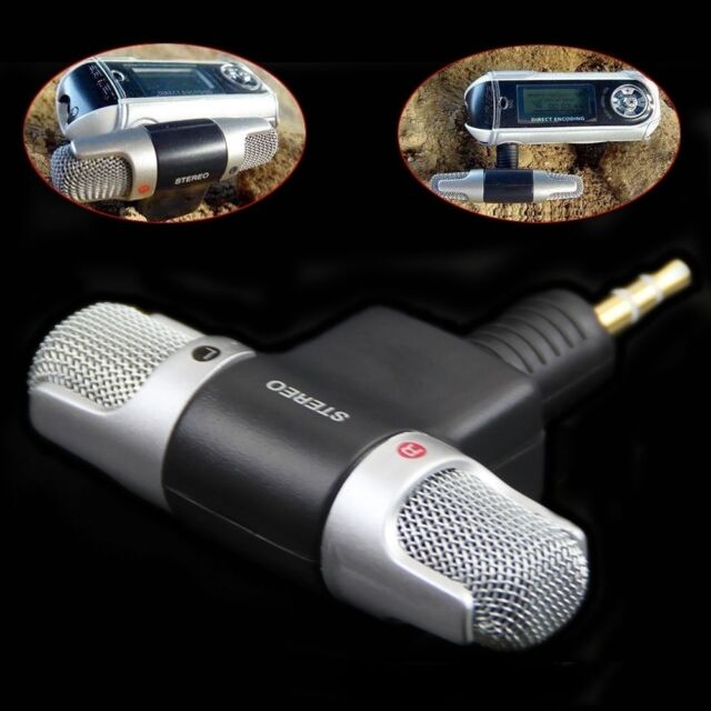 Mini Stereo Microphone Audio Sound Recorder with 3.5mm Jack for Smart Phone GFC