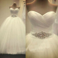 2017 New White/Ivory Wedding Dress Bridal Gown Stock size 6-8-10-12-14-16-18