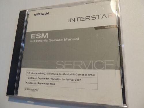 2002-2004//05 Riparazione officina libro Officina Manuale NISSAN INTERSTAR x70