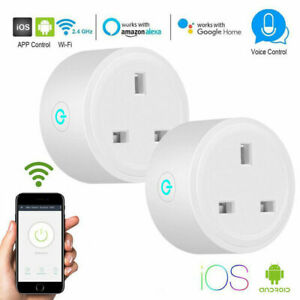 2Pack-Smart-Plug-Outlet-Switch-WiFi-Socket-Remote-Control-Amazon-Alexa-Google-UK