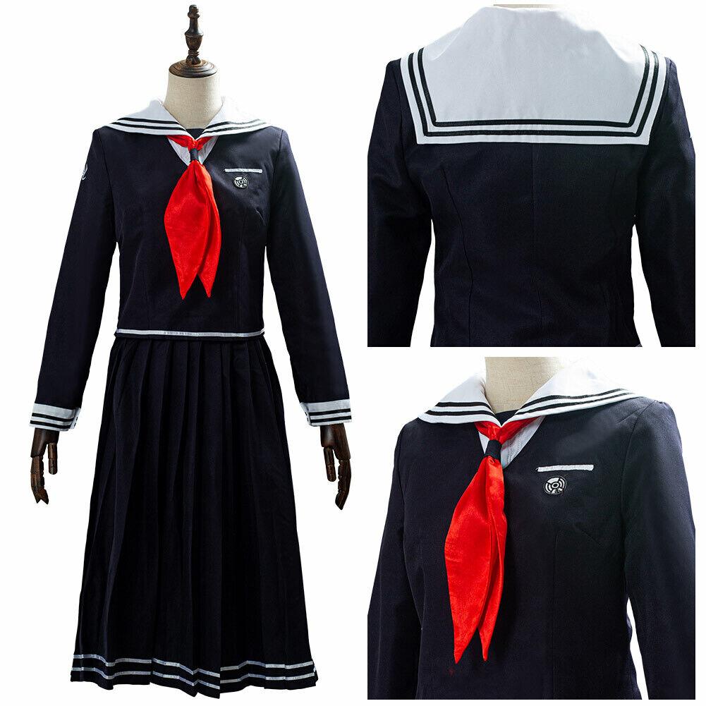 Danganronpa Toko Touko Fukawa Halloween Cosplay Costume Dress School Uniform