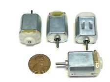 Flormoon DC Motor Mini Electric Motor 3V 8500RPM for DIY Toys 4 Pack Silver+Black