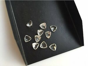 50-Pieces-Crystal-Quartz-Trillion-Calibrated-Gemstones-Cabochons-6x6mm-Each-Cq10