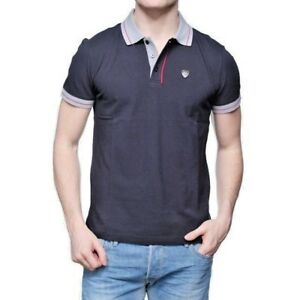 great variety models buy cheap running shoes Details about Emporio Armani EA7 Polo Shirt Short Sleeve Gray Blue Night  100% Cotton 3YPF73