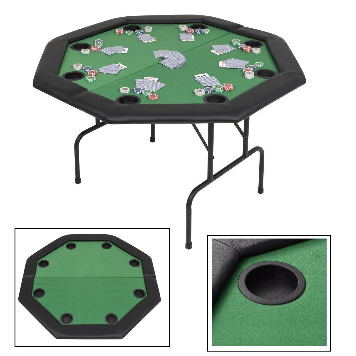 Pokertisch Pokertable Casino Poker Tisch Getränkehalter 8-Spieler Poker Grün