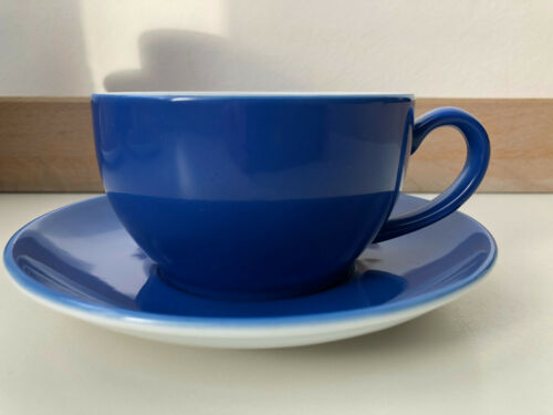 Dibbern ® Solid Color Kaffeetasse 250 ml Volumen samt Untertasse Blau Kornblume