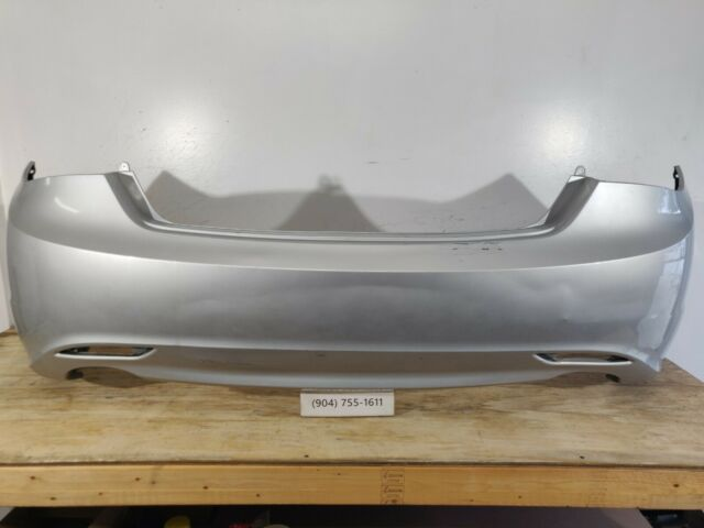 Rear Bumper Cover For 2011-2013 Hyundai Sonata w// 2 Exhaust holes Primed CAPA