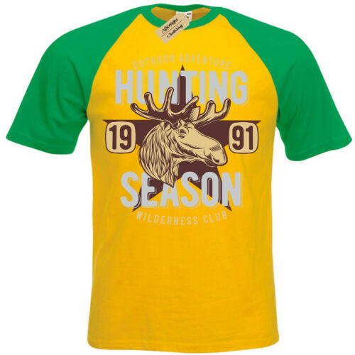 Saison de chasse T-shirt Wilderness club jeu Chasseurs À Manches Courtes Baseball