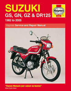 Gz 125 manual array haynes manual 0888 suzuki gs125 gn125 gz125 marauder dr125 82 rh fandeluxe Choice Image