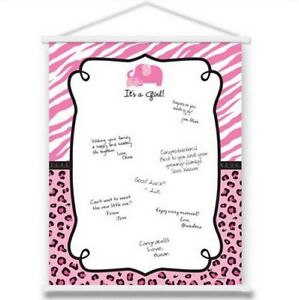 Marvelous Image Is Loading Pink Safari Girl Baby Shower Sign In Sheet