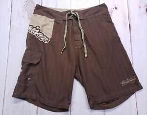 d363d66162348 Men's Budweiser 2008 Beer Board Shorts Swim Trunk Swimwear Brown ...