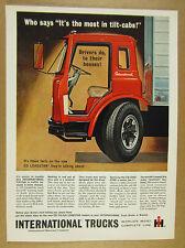 1963 IH International CO Loadstar Trucks red tilt-cab truck art vintage print Ad