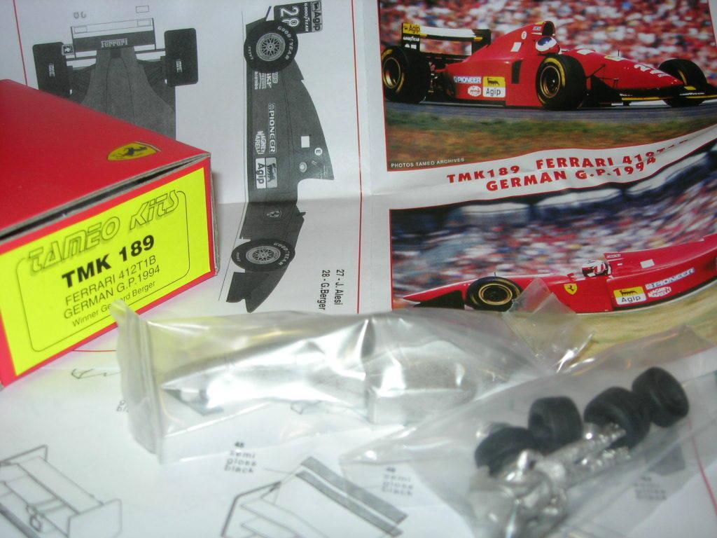 tienda de descuento Tameo Kits 1 43 KIT TMK 189 Ferrari 412T1B Alemán Alemán Alemán GP 1994 Berger Alesi NEW  diseños exclusivos