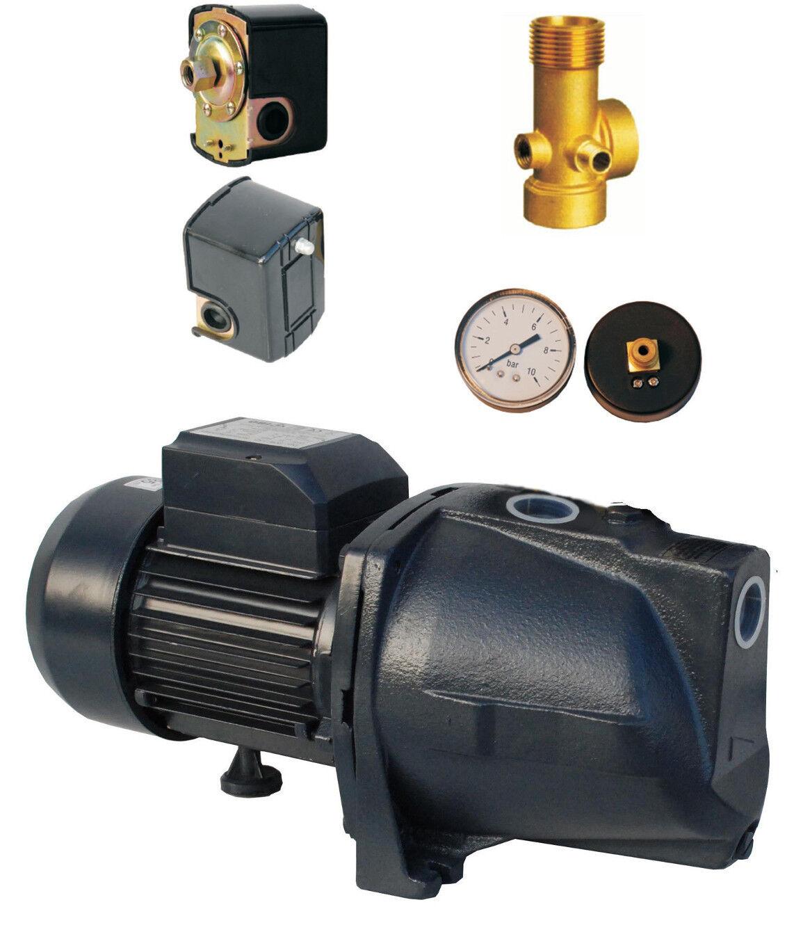 Bomba reforzadora de agua ascendente 1 JSW150 1.5 Kw + Kit de expansión de buques calibre Interruptor De Presión