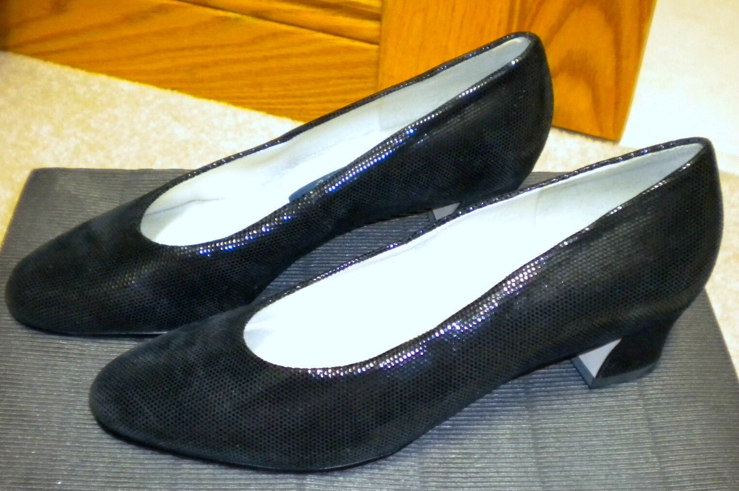 Excellent Condition Selby Heels Comfort Flex Slip-on Black Leather Pumps Heels Selby Shoes 6 b80fad