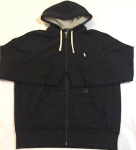 Men/'s POLO Ralph Lauren Hoodie  Zip Fleece Lining Pony Sweatshirt Jacket
