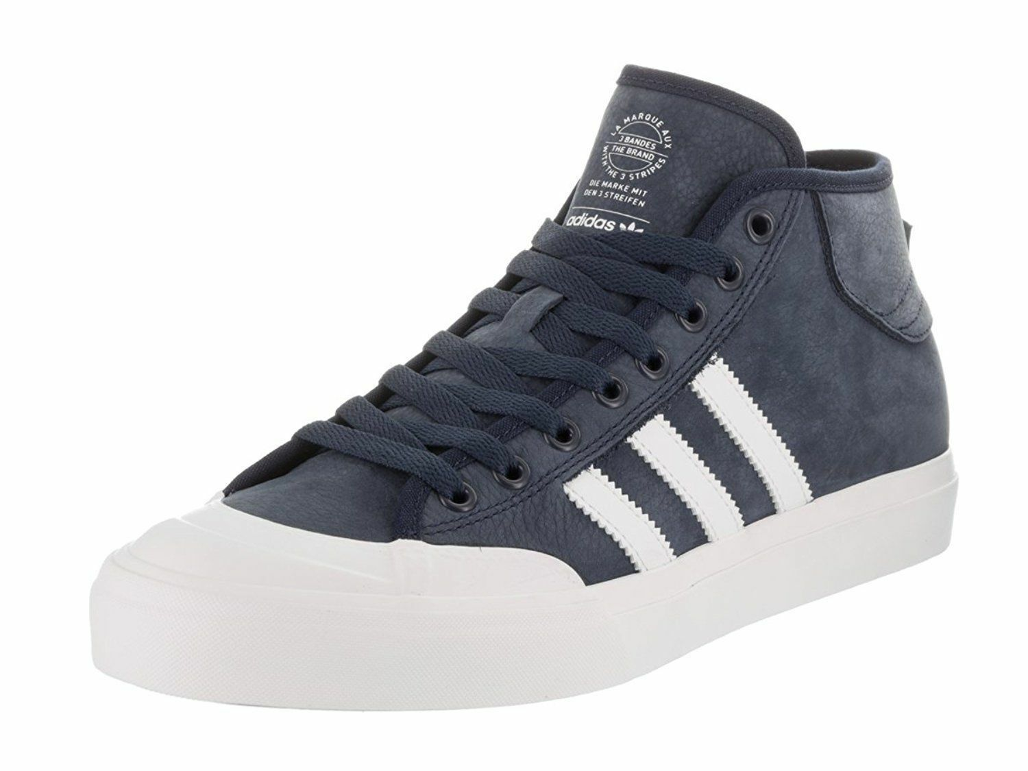 ADIDAS MATCHCOURT SKATE MID SNEAKERS Uomo SHOES NAVY/WHITE BY3203 SIZE 10.5 NEW