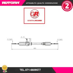 MARCA-GENERAL RICAMBI FI4051 Scatola guida meccanica Fiat 127 TT 73/>